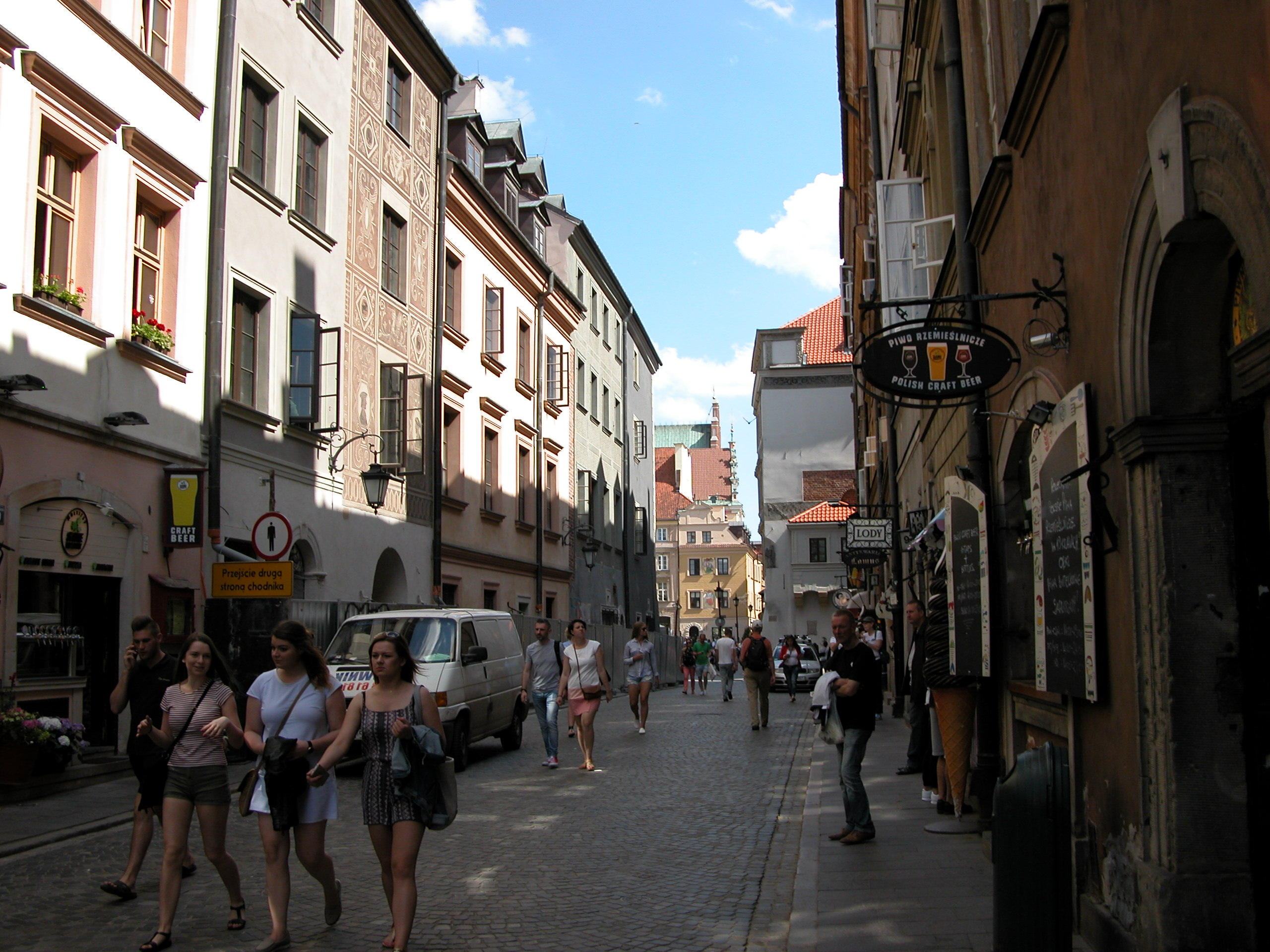 Warsaw old city streets