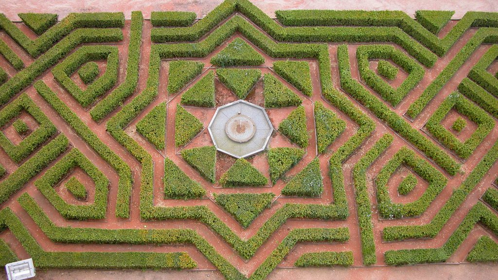 Garden at the Alcazar of Segovia