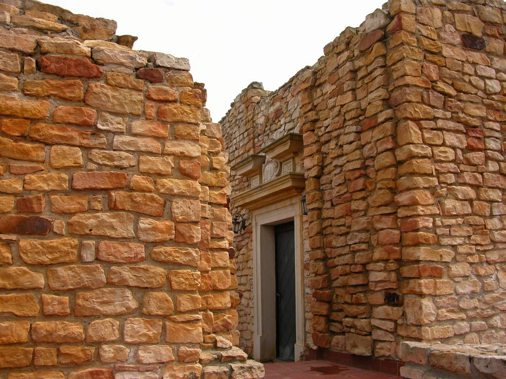 Corridor of a reconstructed fort