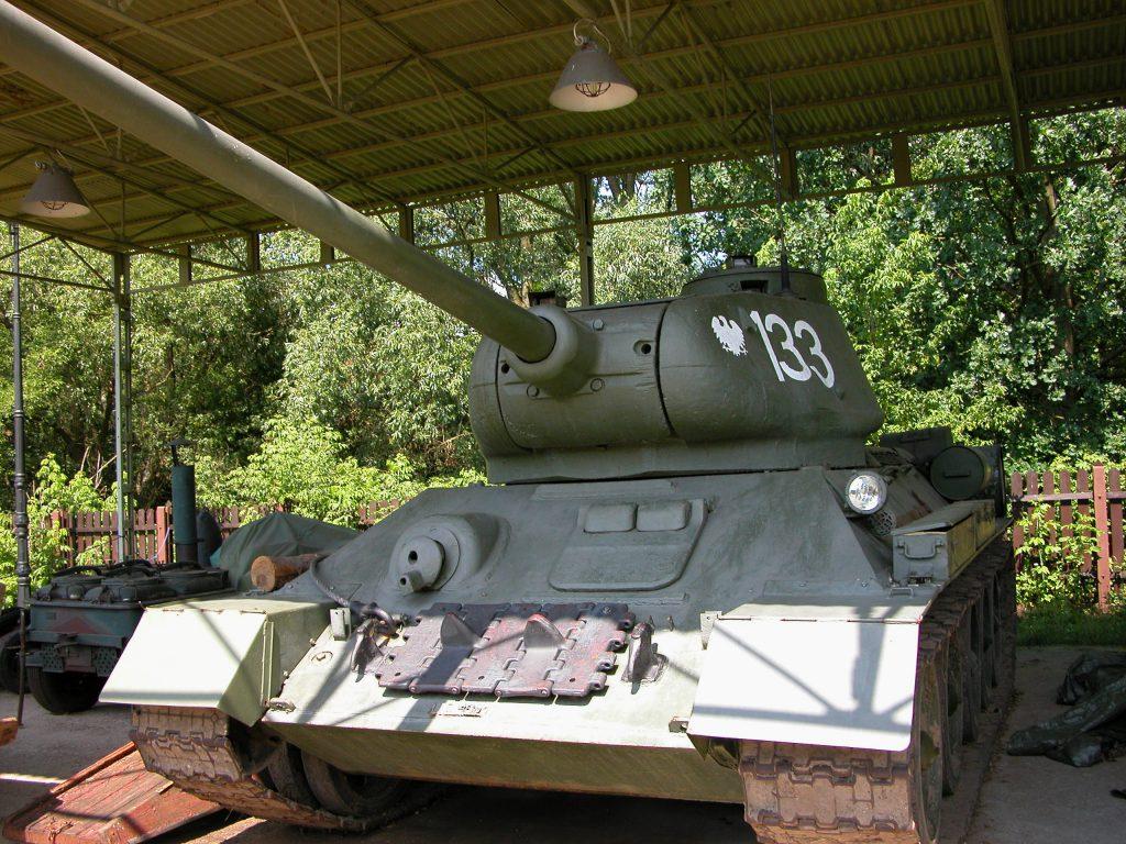 Restored WWII tank