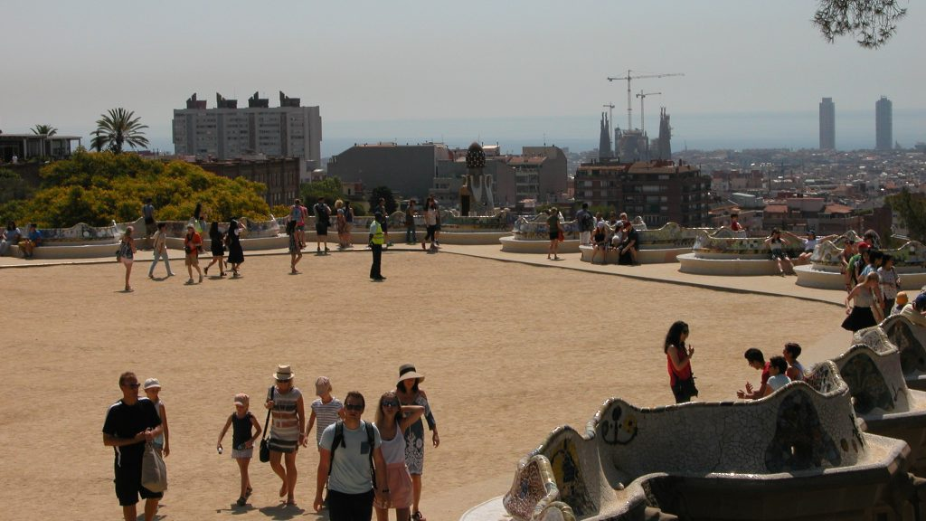 Park Güell terrace viewpoint