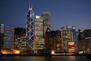 Central Hong Kong from a boat