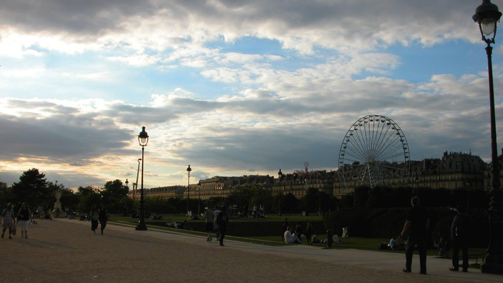 Sunset over Tuileries Garden