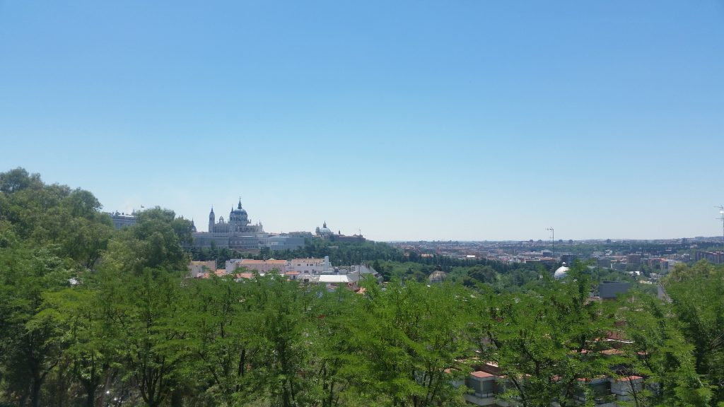 View of Madrid from the Cuartel de la Montaña Park
