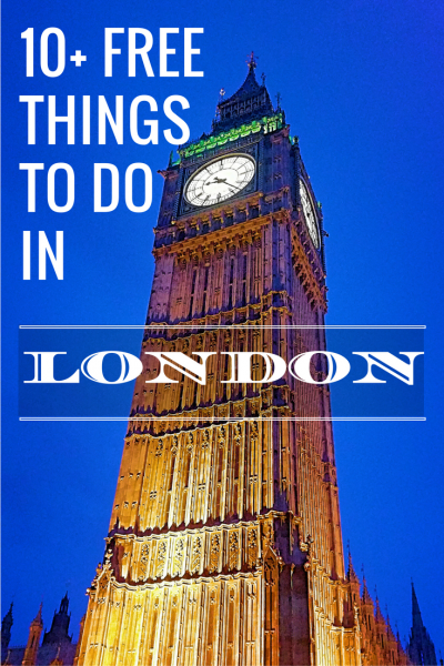 10+ FREE things to do in London - Budget travel