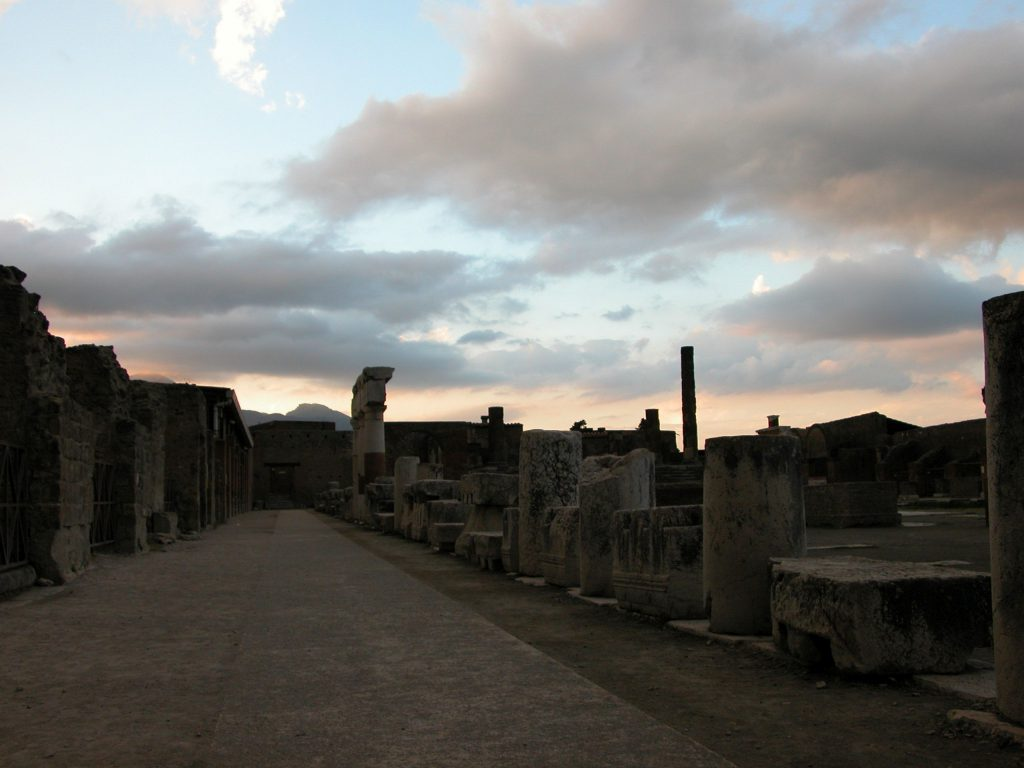 Pompeii sunset