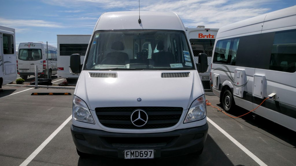 Picking up our campervan