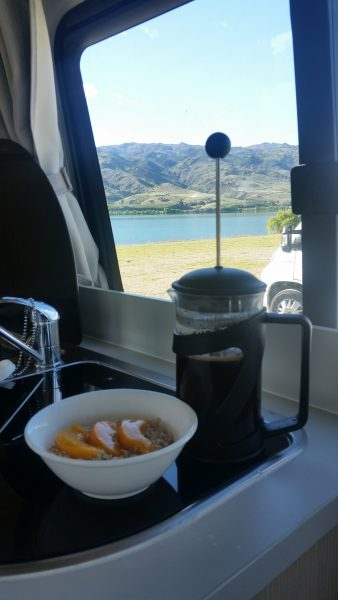 Oatmeal and coffee