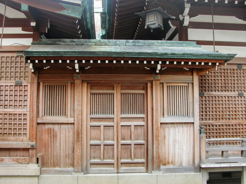 Shinto shrine Japanese woodwork