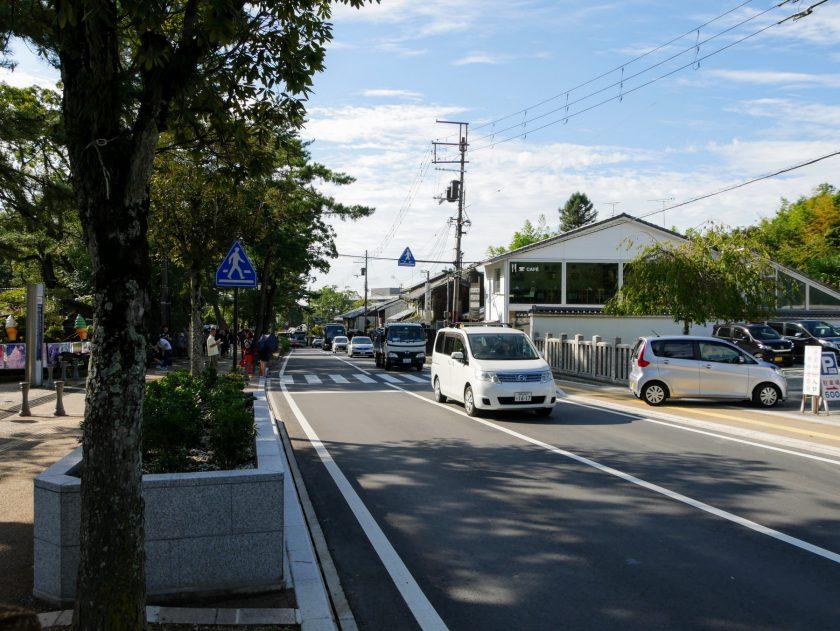 The crosswalk in front of Nara Park