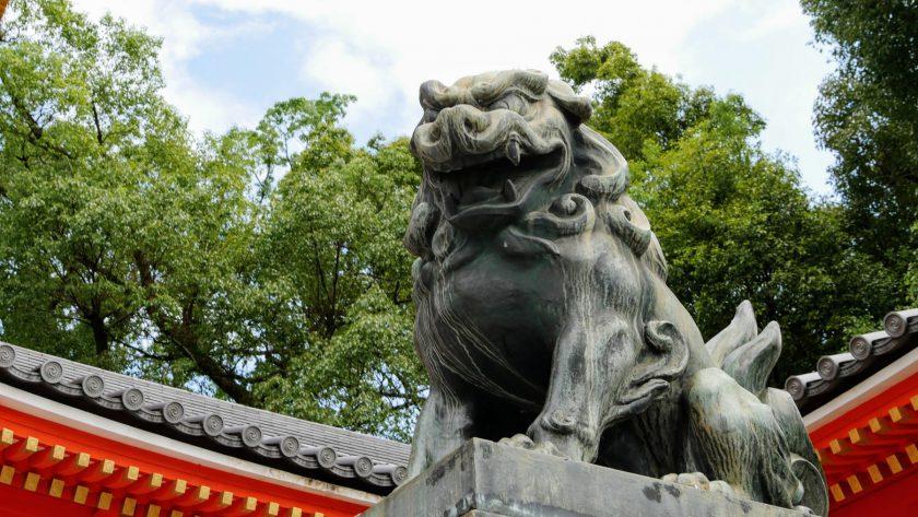 Kyoto Japan lion statue