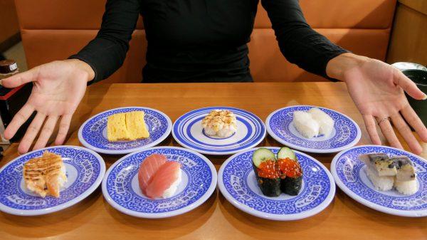 Kura Sushi in Osaka Japan
