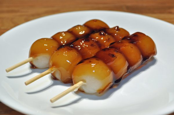 grilled dango in Osaka